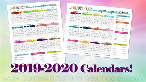 year glance calendars confessions homeschooler
