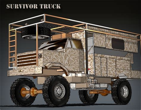 survival truck cer image jim delozier 39 s survival truck in rendering form