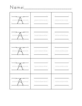 kindergarten letter formation practice worksheets