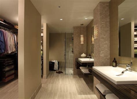 Master Bath Walk In Closet Bathroom Contemporary With Wall