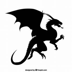 Dragon silhouette Vector | Free Download
