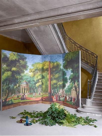 Pierrefrey Scenes Galantes Scenic Murals Wallpapers Louvre