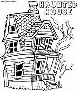 Haunted Coloring Pages Colorings Coloringway sketch template