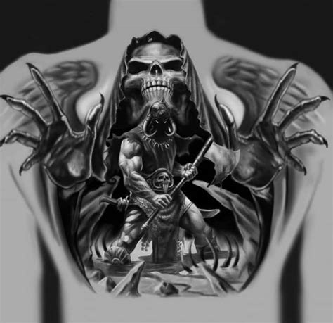 spooky death tattoo design ideas truetattoos