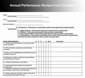 26 employee performance review templates free word excel for Yearly employee review template
