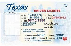 template texas new drivers license editable photoshop file With texas temporary drivers license template
