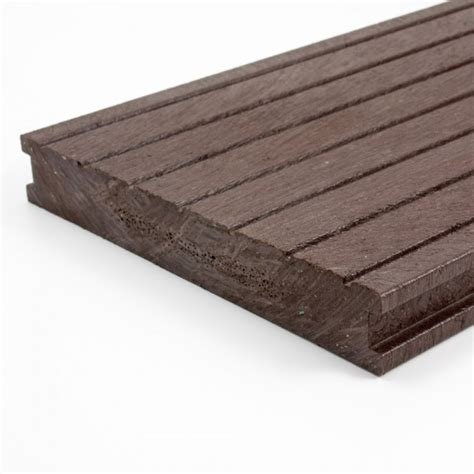 buy plastic decking boards grooved brown mm  mm