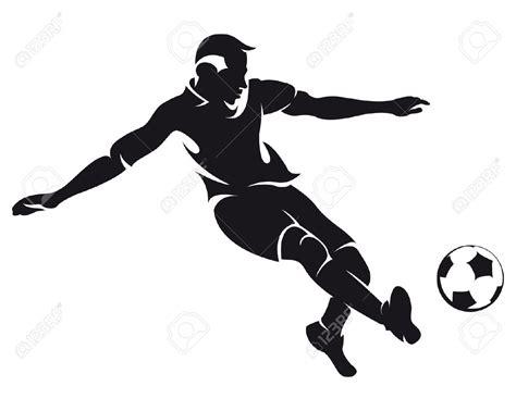 soccer team clipart black and white best football player clipart black and white 21026