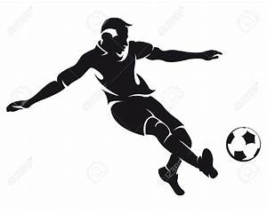 Black & White clipart soccer player - Pencil and in color ...