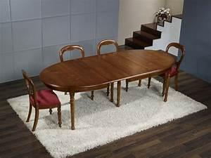 Table 16 Personnes : table ovale en merisier massif de style louis philippe 170 110 4 allonges de 40 cm table pour 16 ~ Teatrodelosmanantiales.com Idées de Décoration