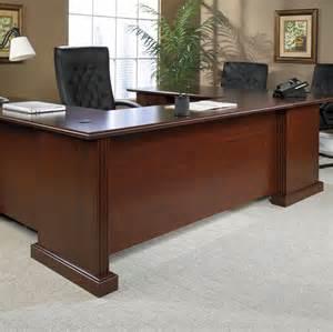 sauder heritage hill outlet executive u shaped desk 72 quot wide x 108 quot x 30 quot high classic