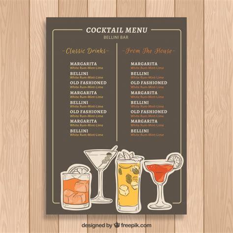 Sangsom special rum), orangenlikör, zuckersirup, mandelsirup, ananassaft, limette und eiswürfel. Elegante moderne cocktailkarte vorlage   Download der kostenlosen Vektor