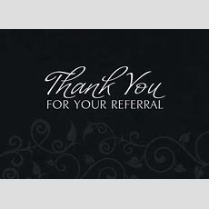Elegant For Your Referral  Thank You Greeting Cards By Cardsdirect