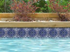 national pool tile casablanca 6x6 deco series cobalt