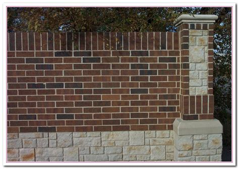 brick fence ideas brick wall fence design 2017 2018 best cars reviews