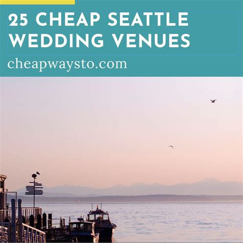 cheap seattle wedding venues cheap ways