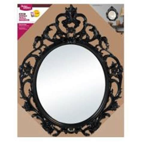 better homes and gardens baroque wall mirror black
