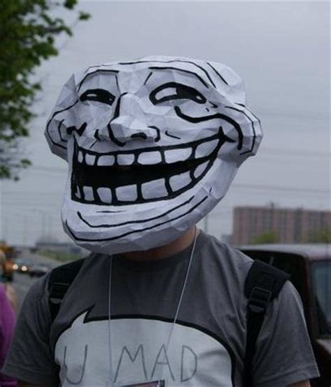 Troll Meme Mask - irti funny picture 816 tags trollface mask paper umad troll