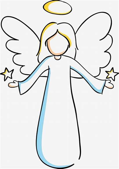Angel Clipart Drawing Angelic Cartoon Transparent Painting