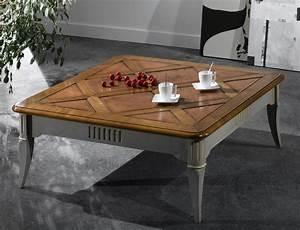 Table Basse Carrée : table basse carr e en merisier meubles turone ~ Teatrodelosmanantiales.com Idées de Décoration