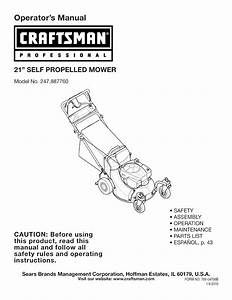 Craftsman Lawn Mower 247 887760 User Guide
