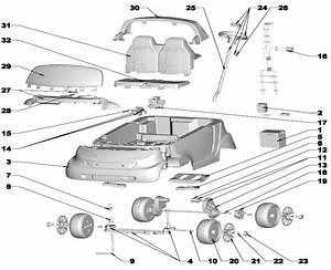 Power Wheels Barbie Smart Car Parts