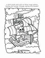 Pirate Coloring Piraten Ship Kleurplaat Piratenboot Schatkaart Printables Crafts Crew Pirates Ships Colouring Google Birthday Printable Theme Gratis Met Cut sketch template