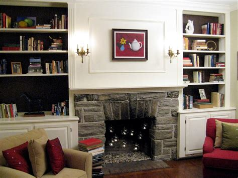 $100 Halfday Designs Update Fireplace And Bookshelves Hgtv