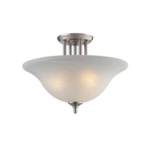 nickel semi flush ceiling lights filament design lawrence 3 light brushed nickel