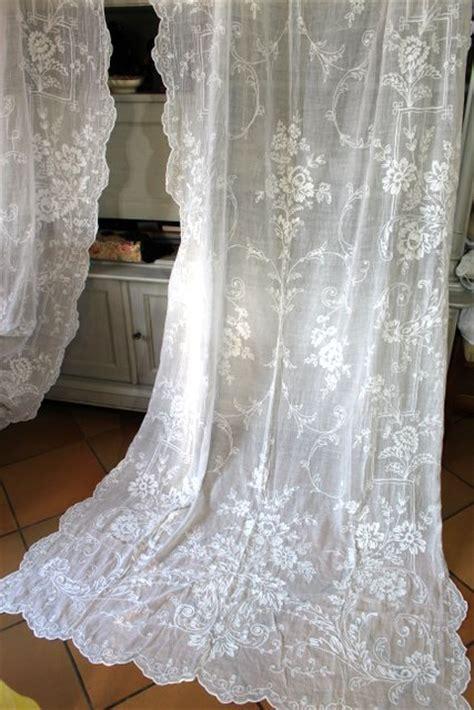 rideaux anciens en coton articles vendus gt vendu rideaux le linge de jadis linge ancien antique vintage