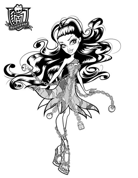 monster high haunted coloring pages    print