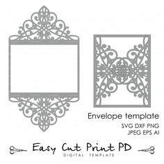 #diy #wedding #invitation Gatefold was designed and cut