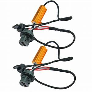 2pc 7440 7443 Led Canbus Load Resistor Wiring Harness