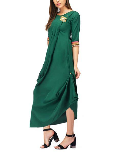 Drape Tunic - green drape tunic by the svaya the secret label