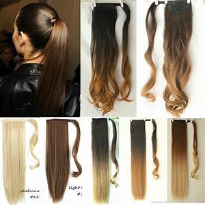Dip Dye Ombre Wrap Around Ponytail Clip In Hair Extensions