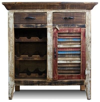 reclaimed wood bar cabinet distressed reclaimed wood wine cabinet with wine rack and