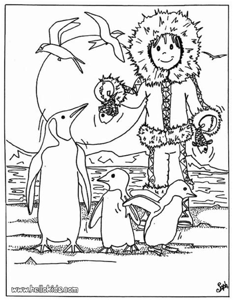 eskimo coloring pages getcoloringpagescom