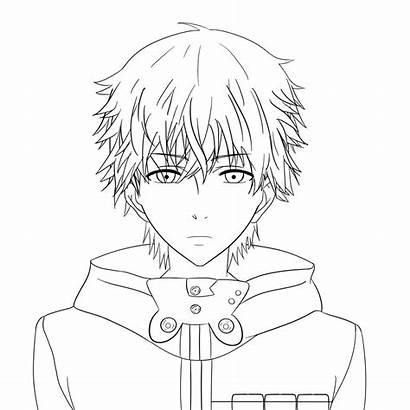 Kaneki Ghoul Tokyo Drawing Coloring Anime Draw