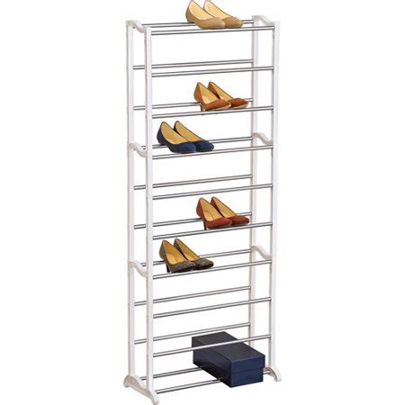 walmart shoe rack lynk 30 pair shoe rack white walmart