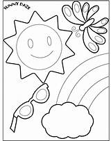 Coloring Pages Summer sketch template