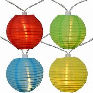 Guirlande Led Solaire Exterieur : guirlande lampion papier lumineux led multicolore solaire ~ Edinachiropracticcenter.com Idées de Décoration