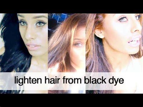 hair   lightened dyed black hair  bleach