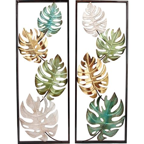Wall art is available in various shapes and sizes, making it easy to find a piece to fit your decor. Simply Perfect Tropical Leaf 2 Pc. Metal Wall Decor | Metal & Glass Wall Accents | Household ...