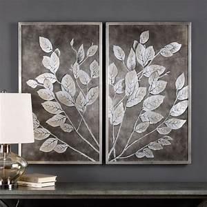 money tree framed art set of 2 41602 uttermost With wall art set