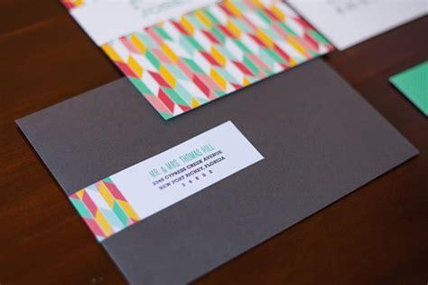 Alexis + Joseph's Modern Hearts and Arrows Wedding Invitations
