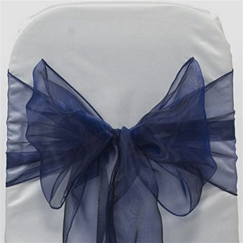 mds pack of 100 organza chair sashes bow sash for wedding