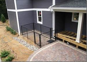 the l shaped house the backyardthe dog run dog run looks With small dog kennel and run