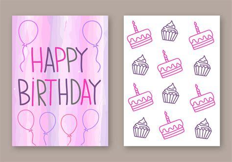 happy birthday card vector   vector art