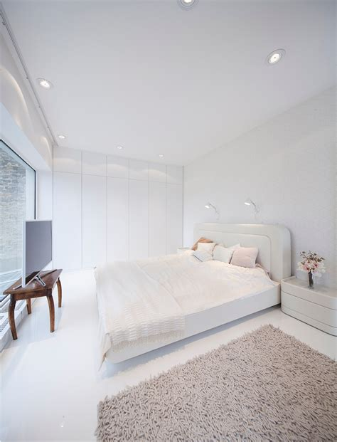 deco chambre blanc hungarian loft design uses a simple aesthetic for big