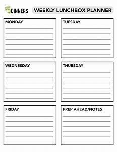 free school lunch menu templates - back to school free printable weekly lunchbox planner